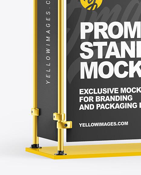 Metallic Promo Stand Mockup