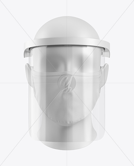 Face Mask & Face Shield Mockup