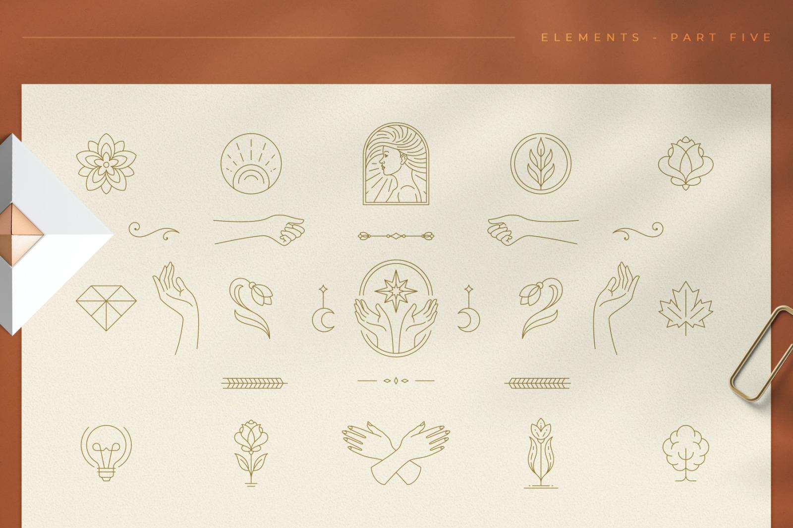 Logo Line Elements Collection