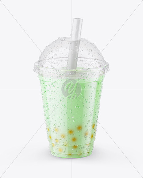 Milk Bubble Tea Cup Mockup