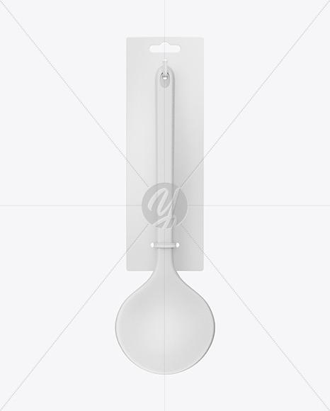 Plastic Kitchen Ladle Spoon Mockup