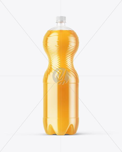 Multifruit Soft Drink PET Bottle Mockup