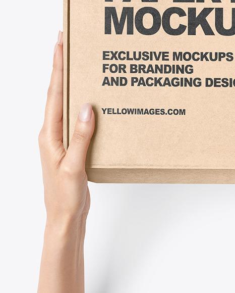 Kraft Paper Mailing Box Mockup