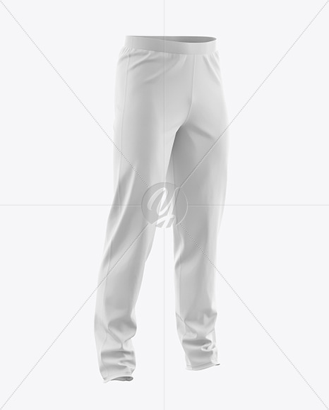 Download Mens Heather Cuffed Sweatpants Back Left Half Side View Yellow Images