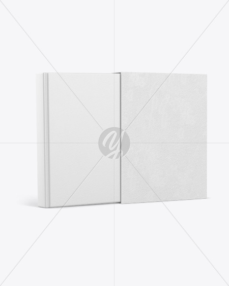 Hardcover Book With Paper Cover Mockup