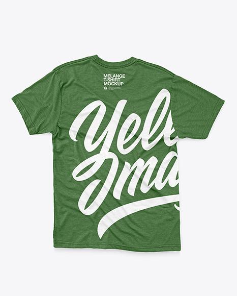 Melange T-Shirt with Round Neck Mockup