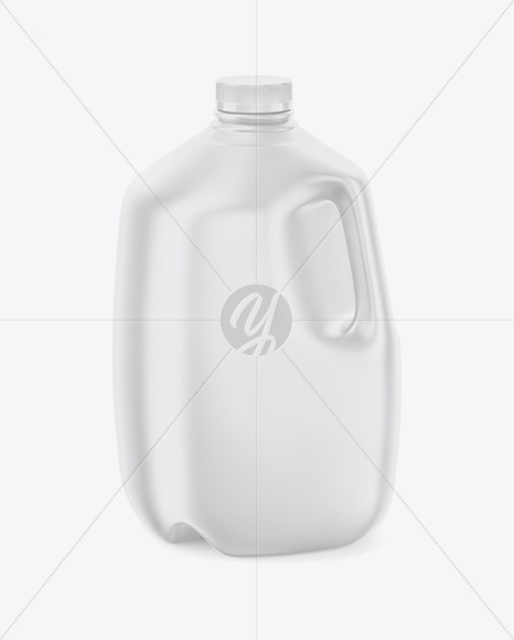 Download Frosted Plastic Jug With Milk Mockup Back Half Side View PSD - Free PSD Mockup Templates