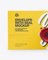 Paper Envelope With Seal Mockup