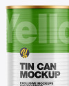 Metallic Tin Can w/ Glossy Finish Mockup