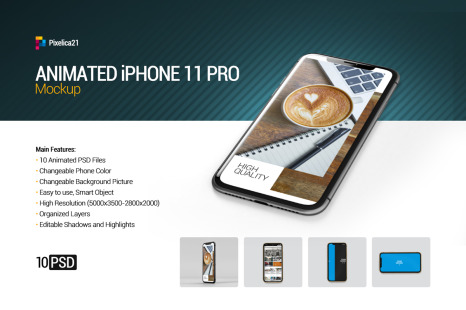 Download Free Iphone 11 Pro Display Mockup In Free On Yellow Images Creative Store PSD Mockup Templates