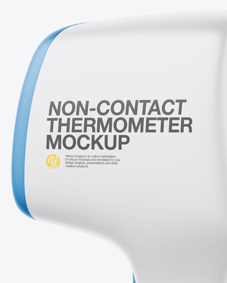 Non-contact Infrared Thermometer Mockup - Half Side View