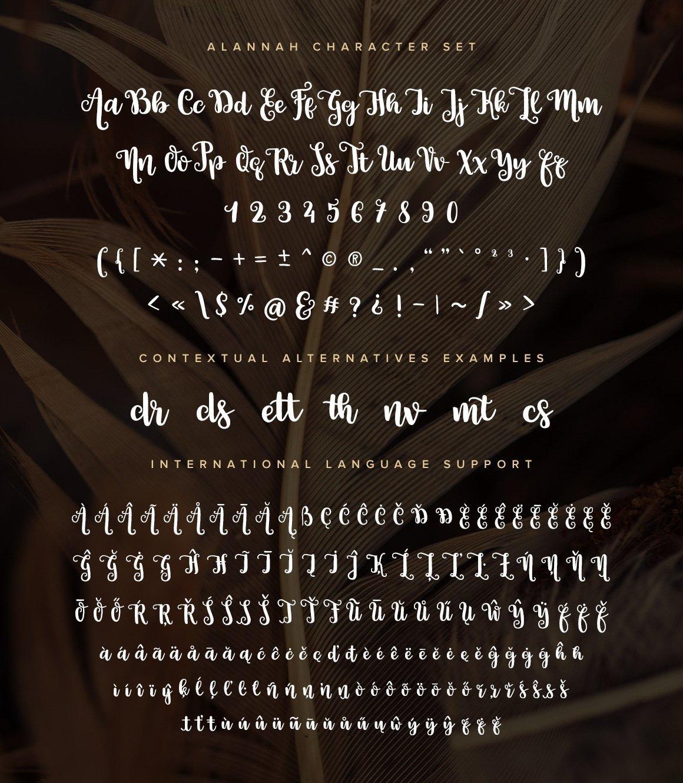 Alannah Script Font