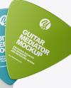 Three Metallized Triangle Guitar Picks Mockup
