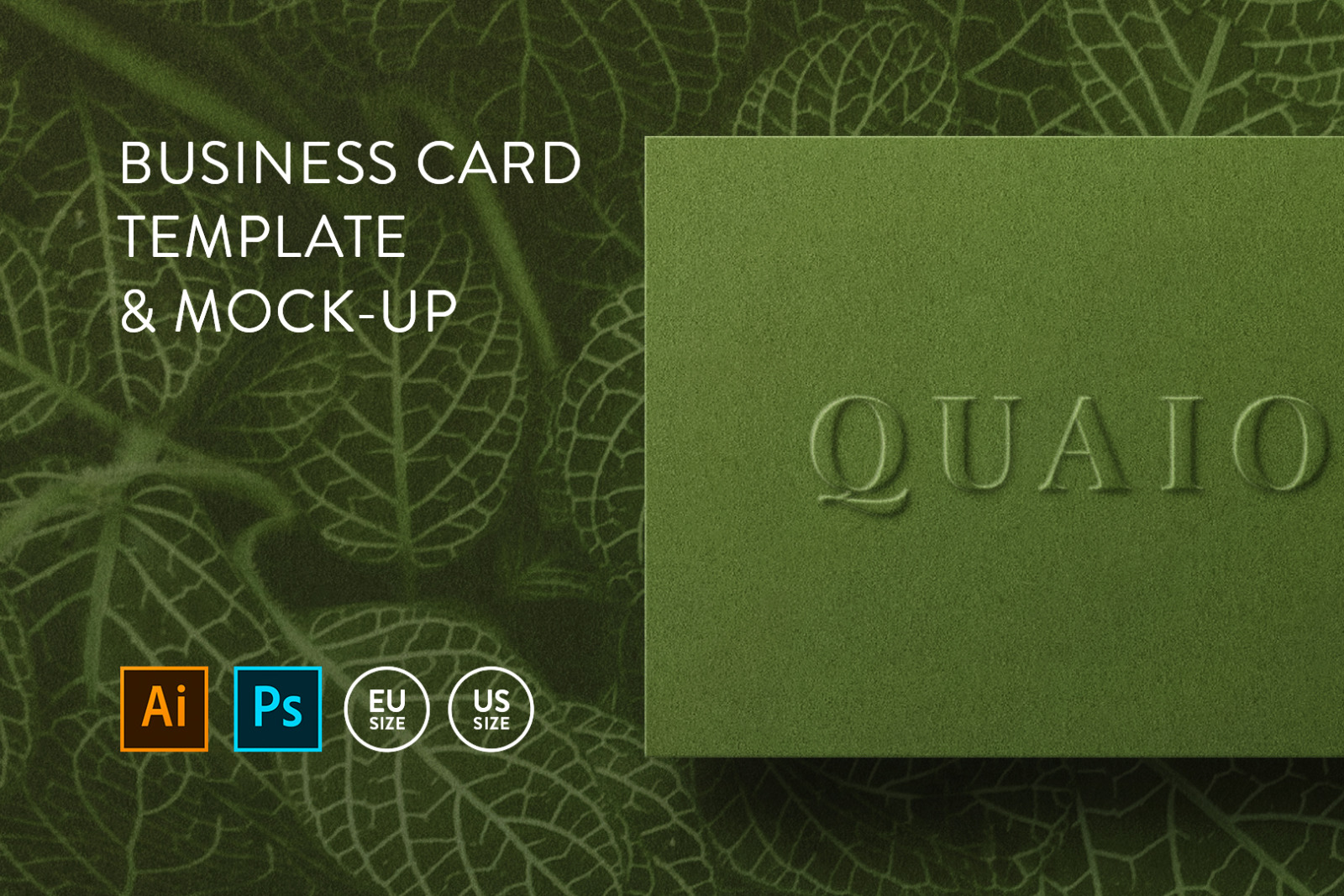 Business card Template & Mock-up #3