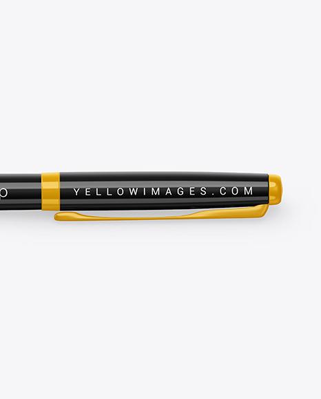 Glossy Pen Mockup