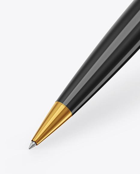 Glossy Pen w/ Metallic Finish Mockup