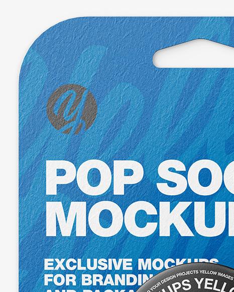 Pop Socket Mockup - Front View