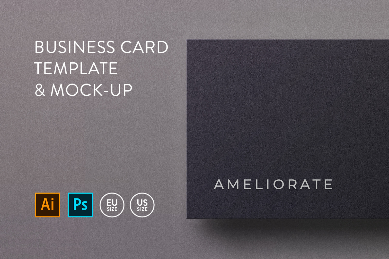 Business card Template & Mock-up #17