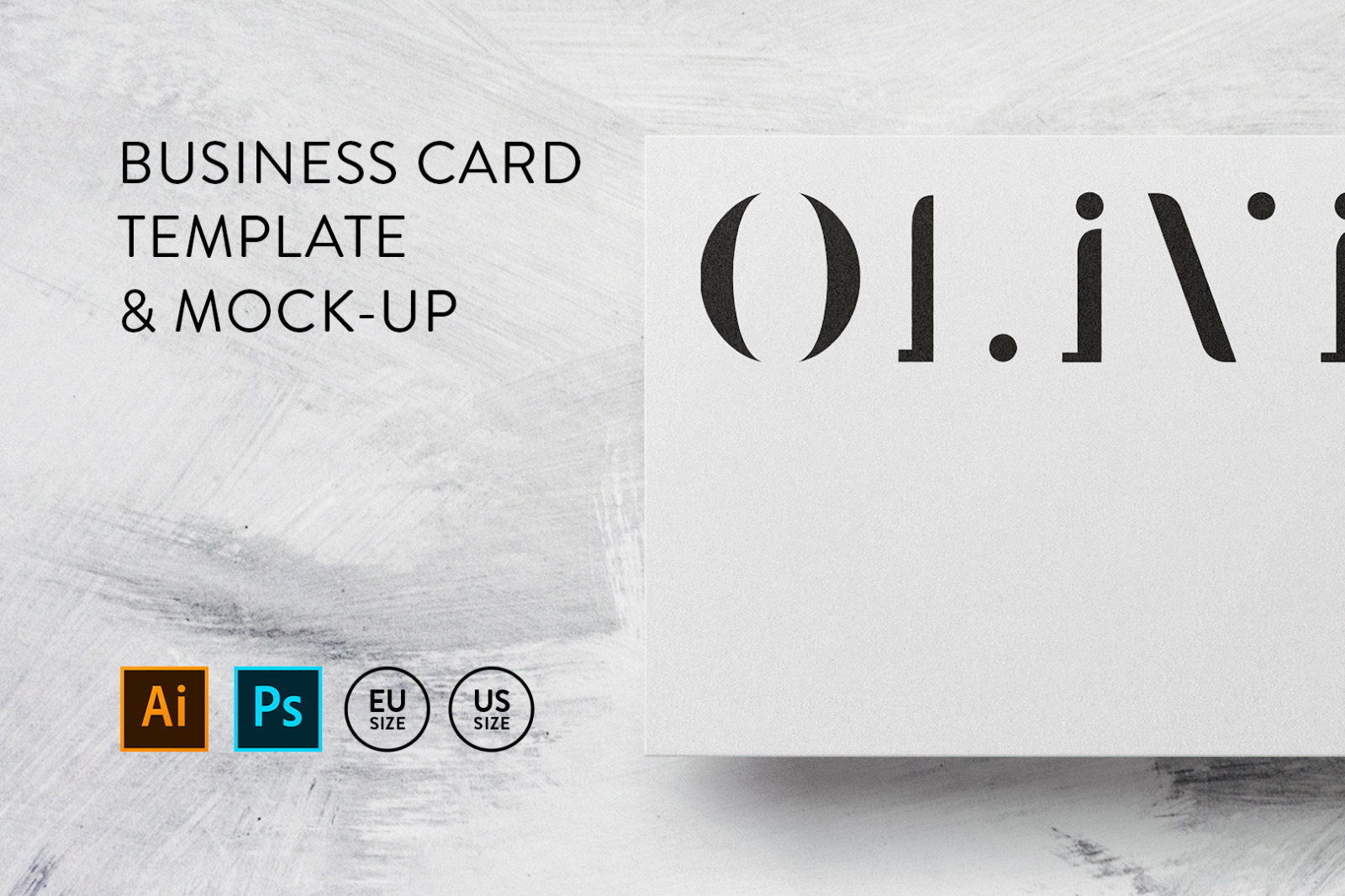 Business card Template & Mock-up #23