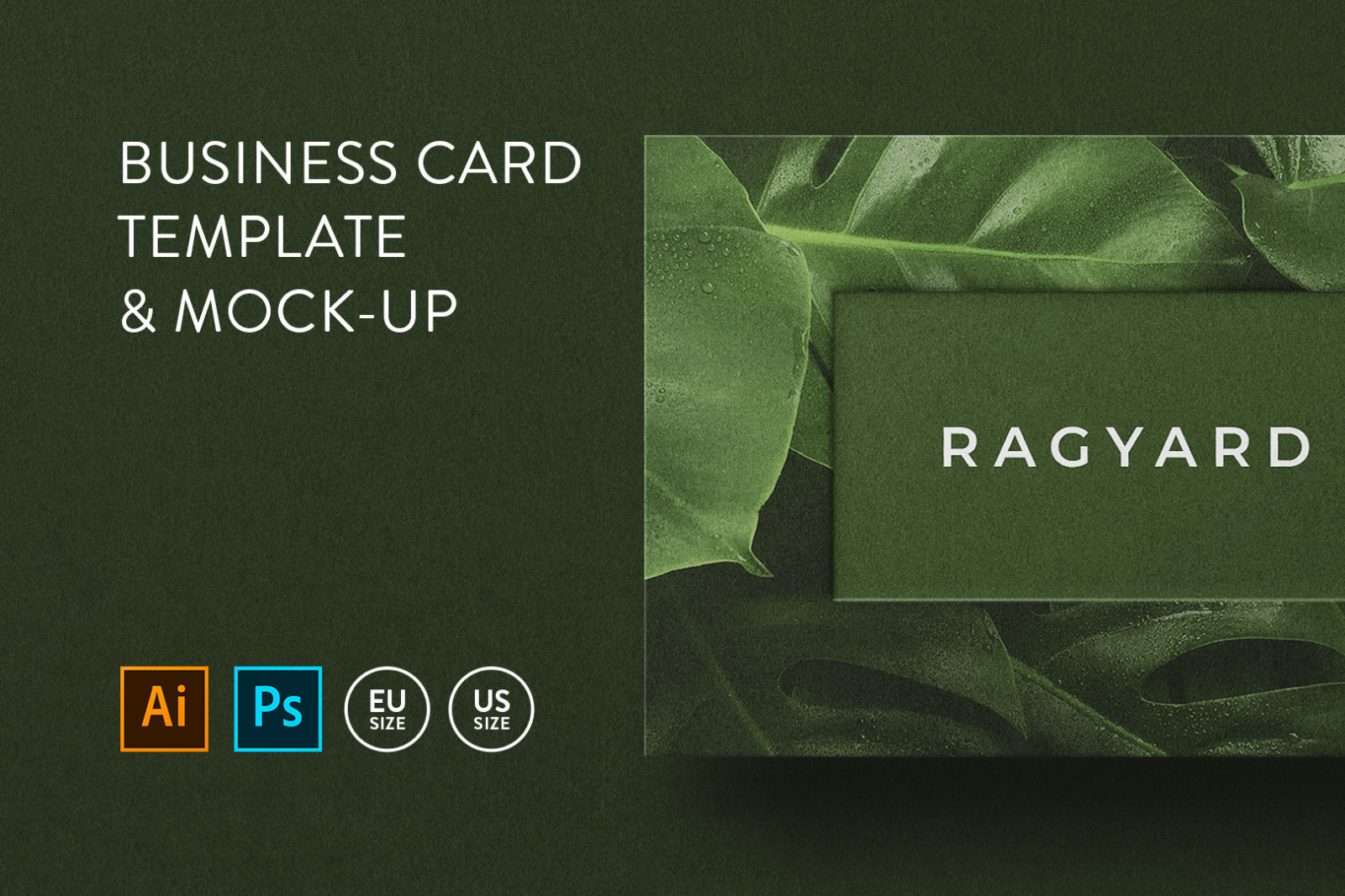Business card Template & Mock-up #28