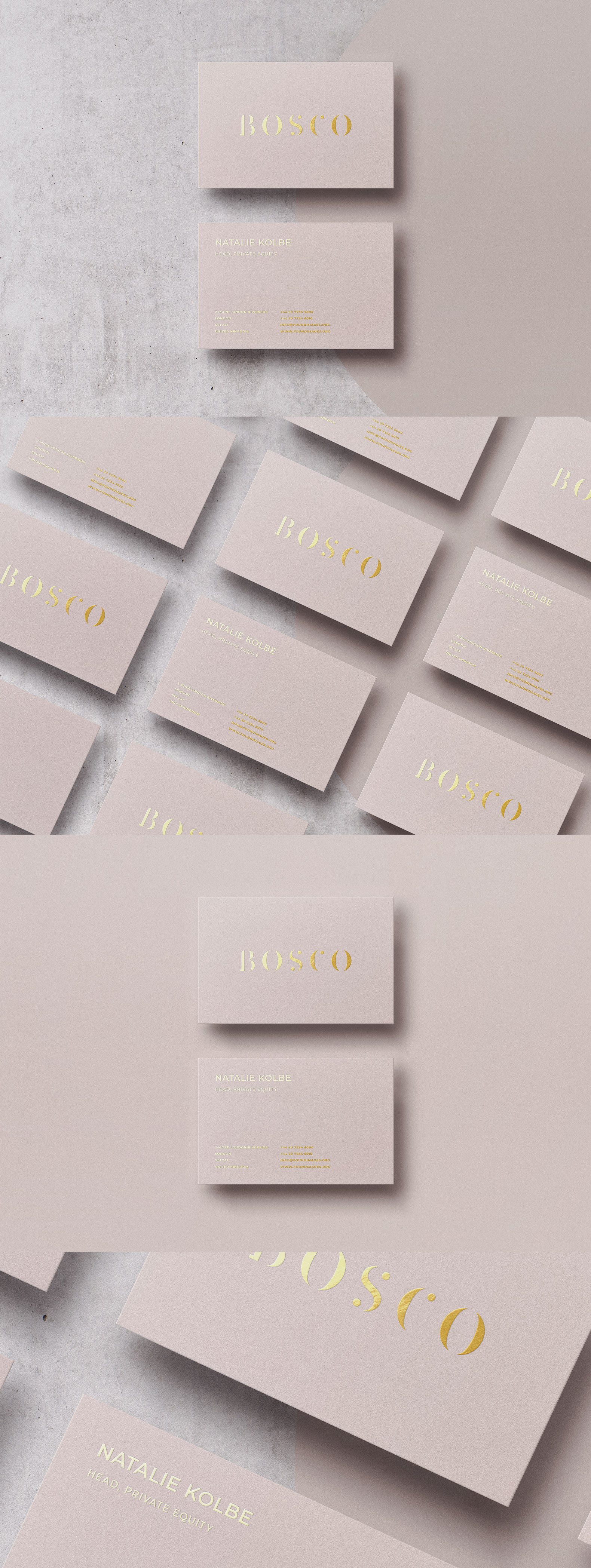 Business card Template & Mock-up #33