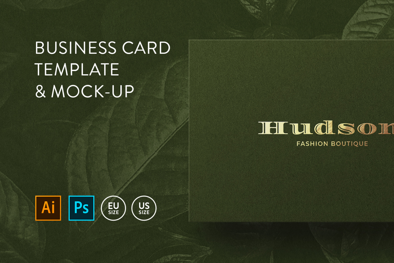 Business card Template & Mock-up #42