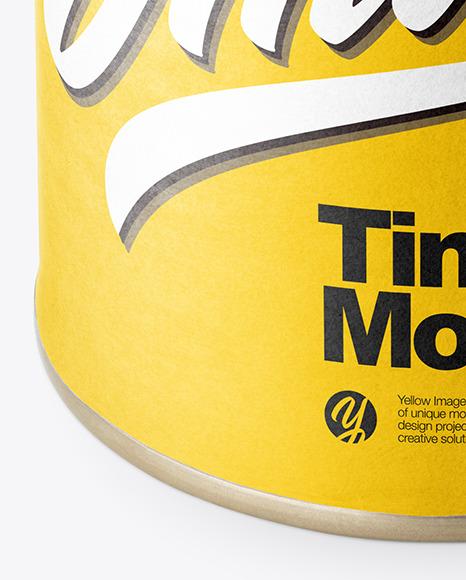 Matte Tin Can Mockup