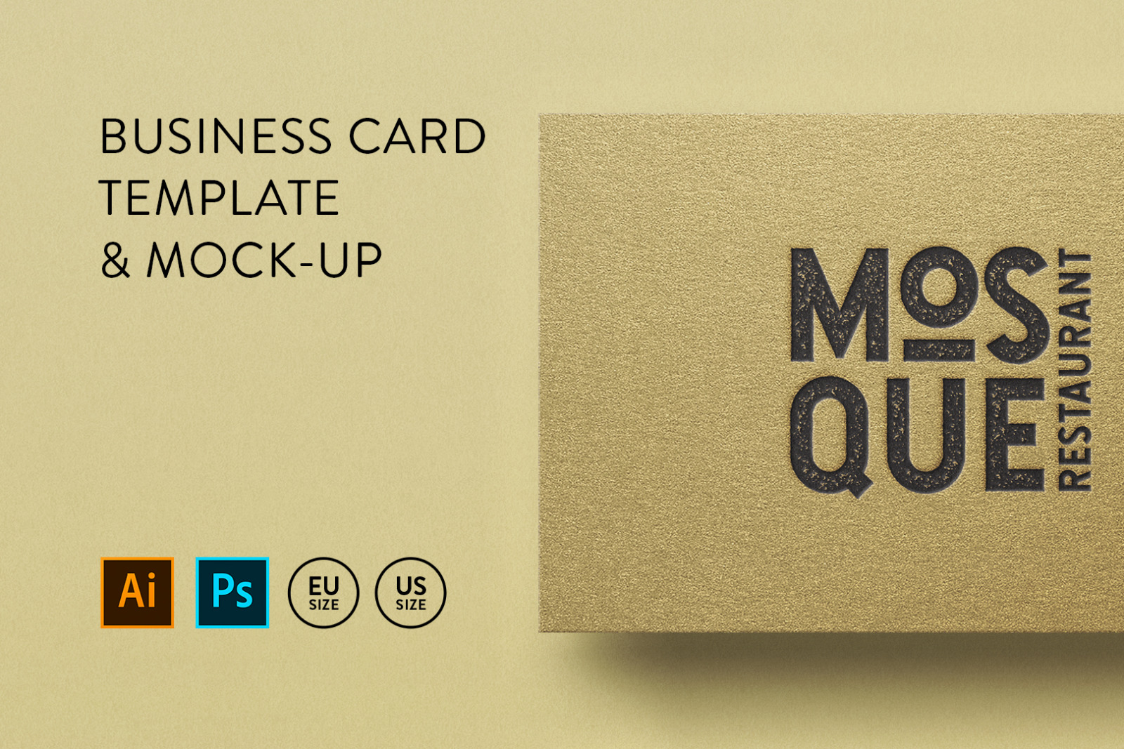 Business card Template & Mock-up #41