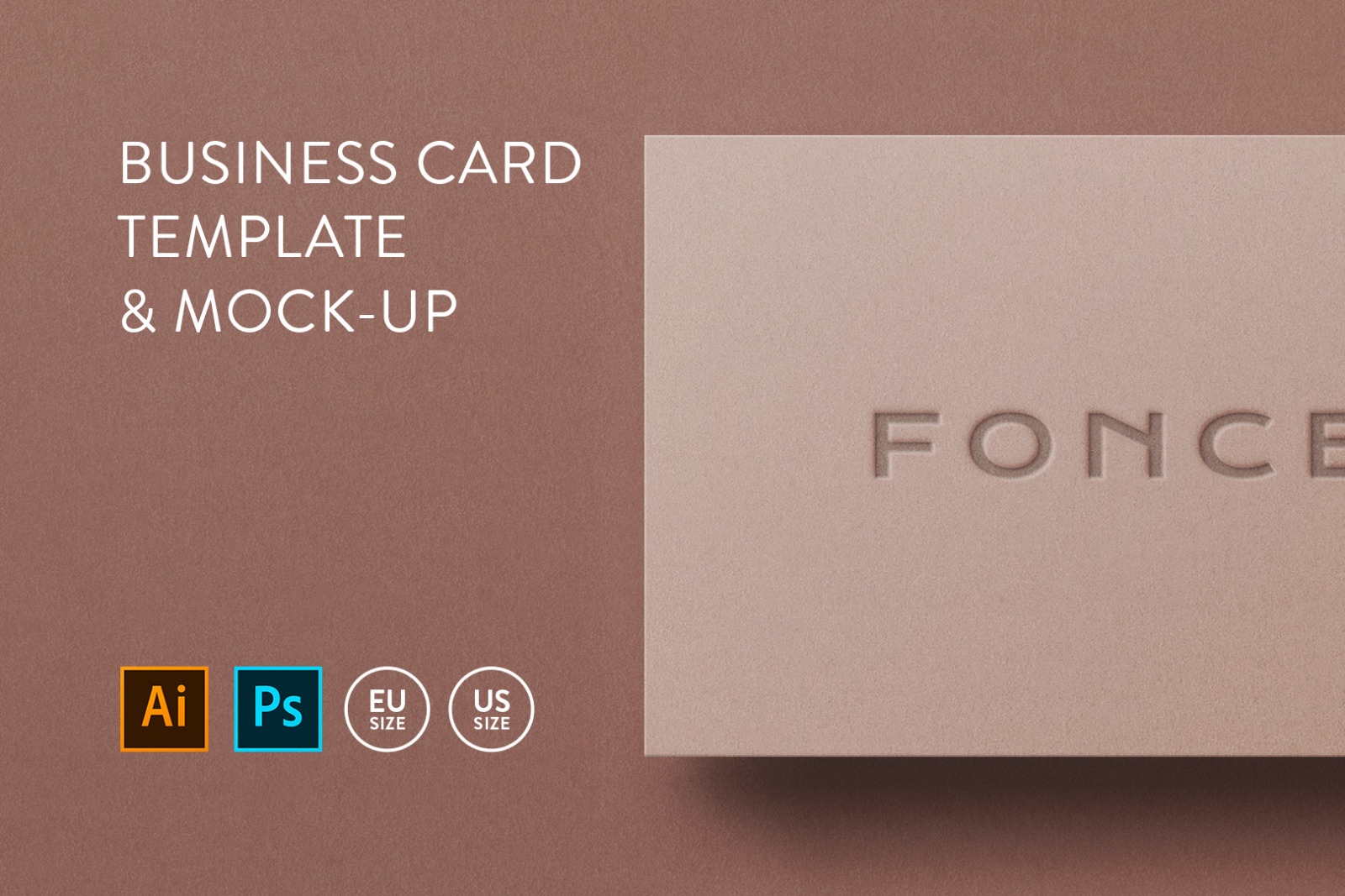 Business card Template & Mock-up #43
