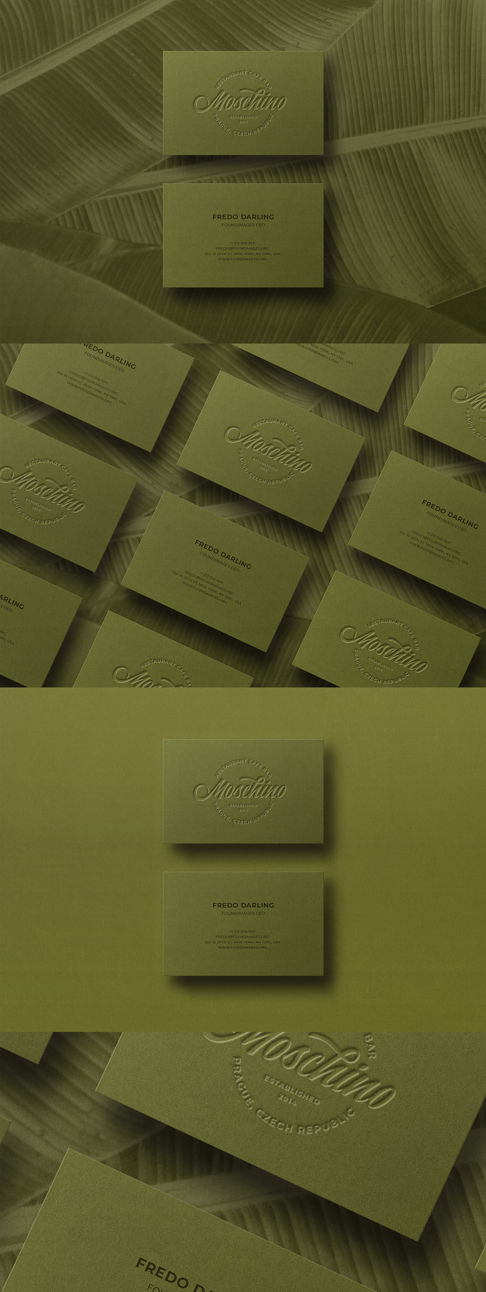 Business card Template & Mock-up #40