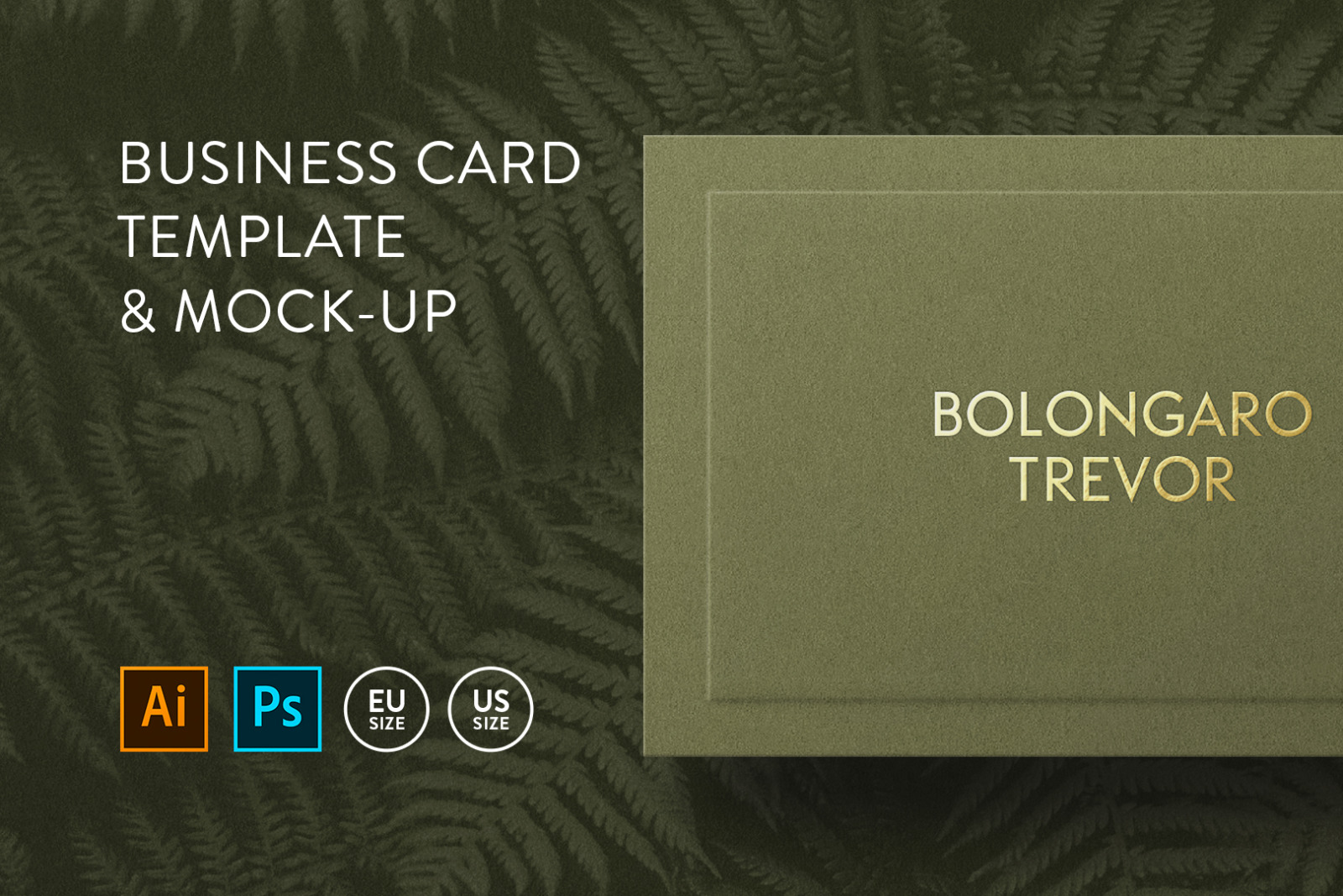 Business card Template & Mock-up #32