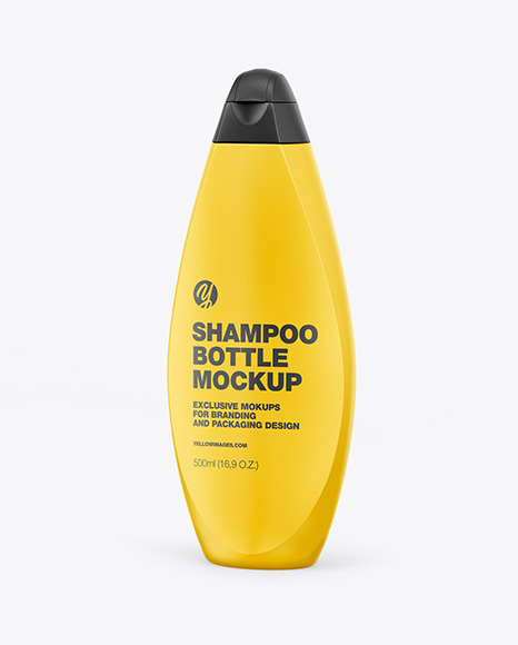 Plastic Shampoo Bottle Mockup - Half Side View
