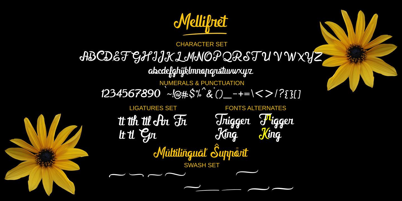 Mellifret script font
