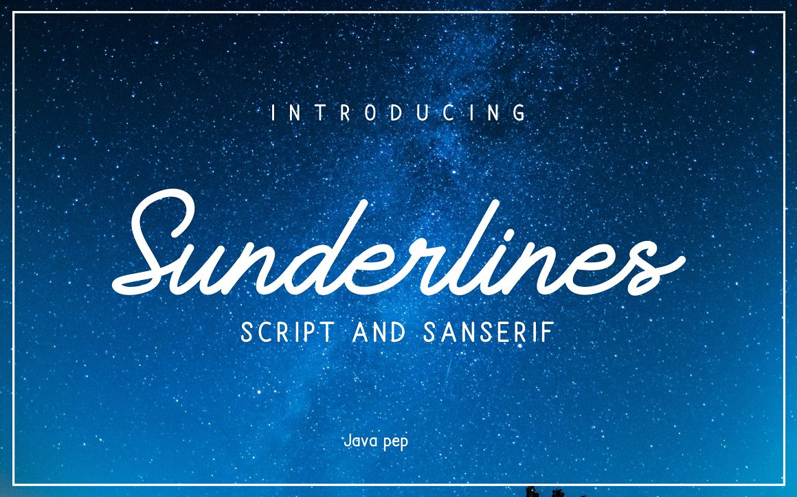 Sunderlines - Script and Sanserif