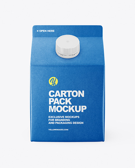 Download Kraft Carton Package Mockup In Packaging Mockups On Yellow Images Object Mockups PSD Mockup Templates