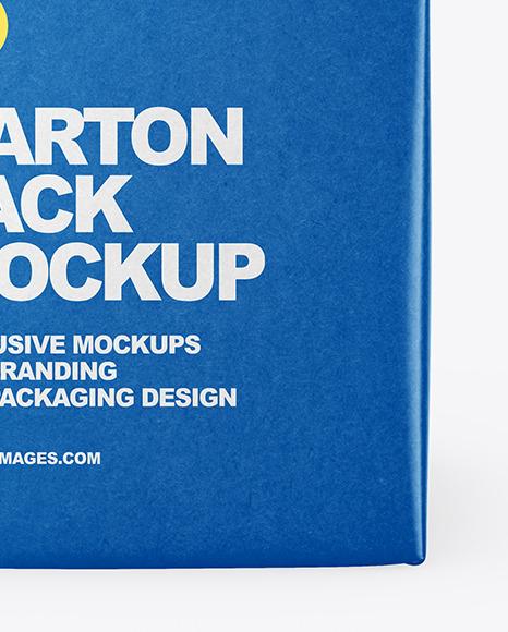 Kraft Carton Package Mockup