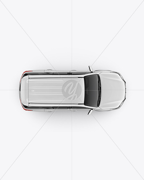 Off-Road SUV Mockup - Top View - Yellowimages Mockups