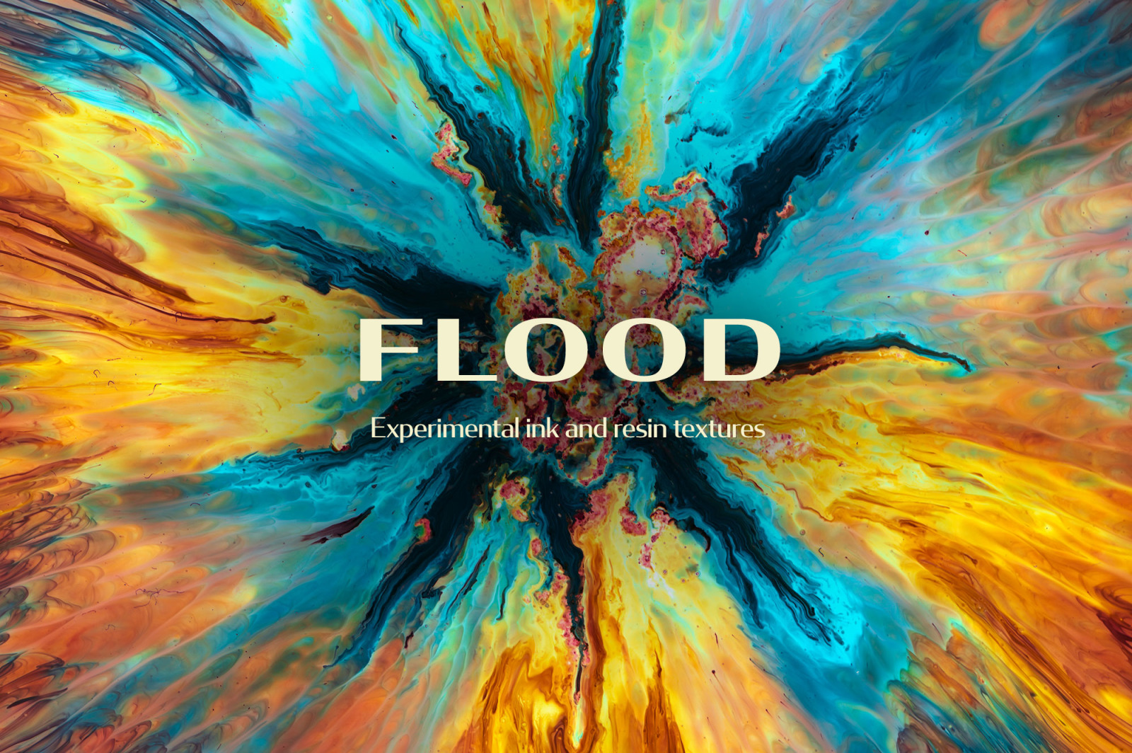 Flood: Experimental Ink & Resin Textures