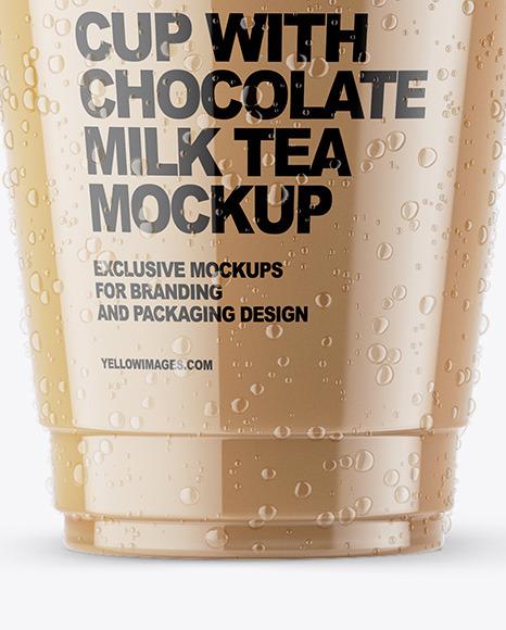 Chocolate Milk Tea Mockup
