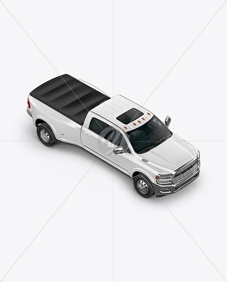 Pickup Truck Mockup - Top Half Side View - Yellowimages Mockups