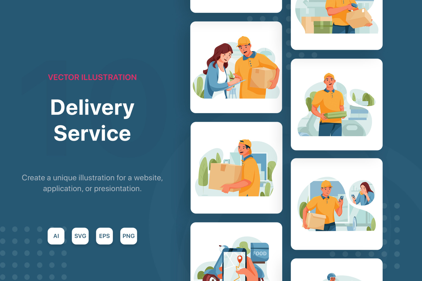 M114_Delivery service illustrations