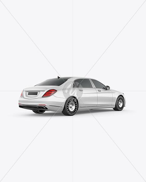Luxury Car Mockup - Back Half Side View - Yellowimages Mockups