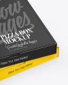Two Matte Pizza Boxes Mockup