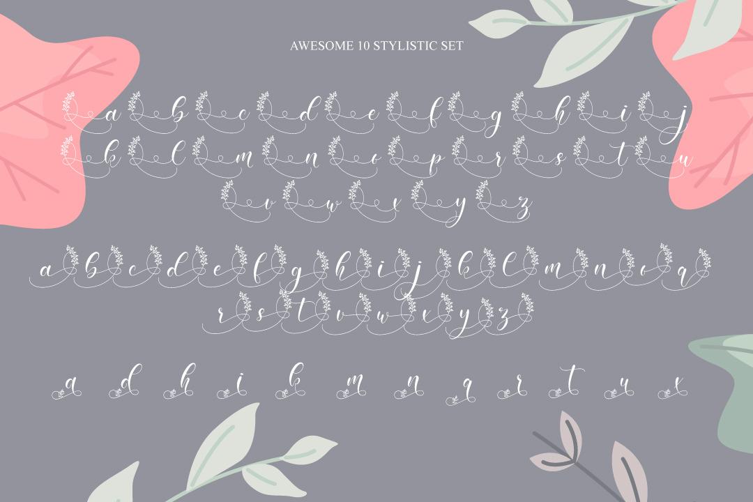 Amiela - Flower Calligraphy