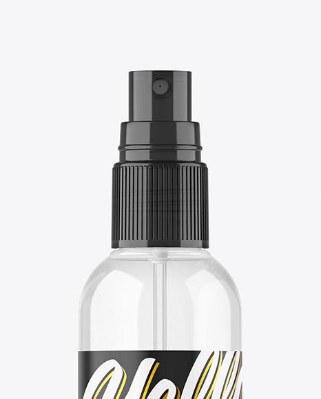 Clear Spray Bottle Mockup