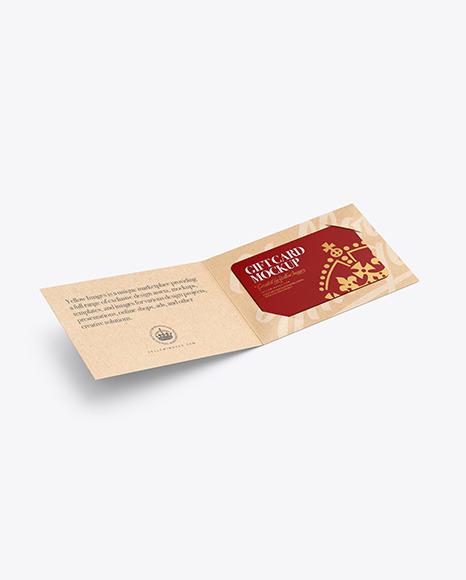Kraft Paper Gift Card Mockup