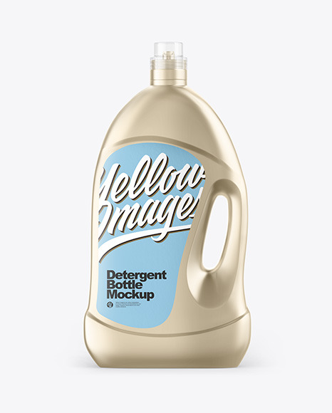 Metallic Detergent Bottle Mockup