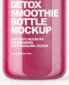 Pink Smoothie Bottle Mockup