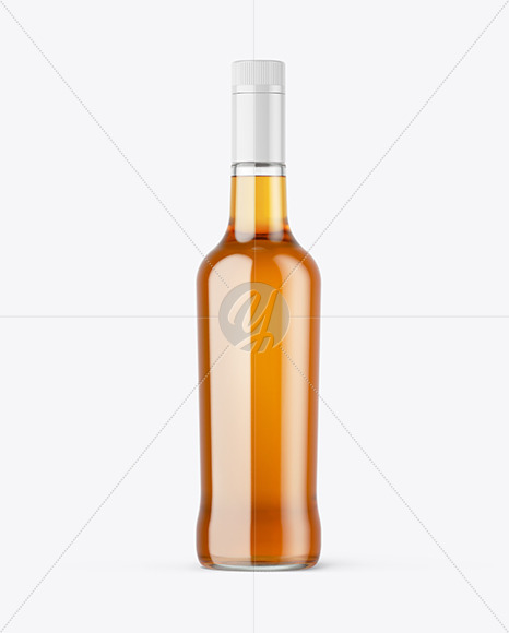 Clear Glass Whiskey Bottle Mockup