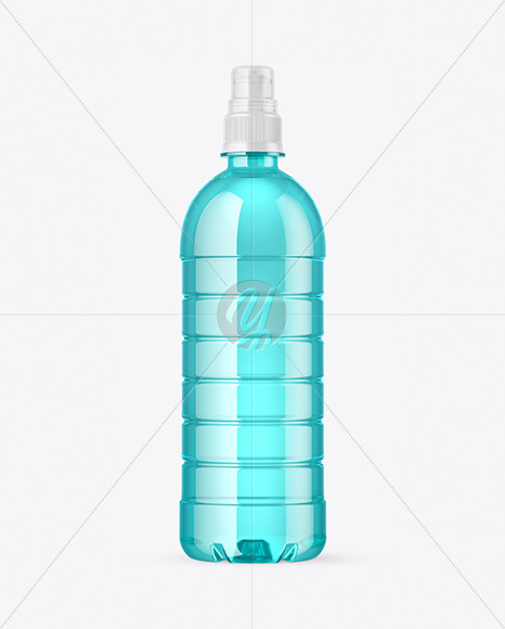 Download Color Pet Bottle With Sport Cap Mockup In Packaging Mockups On Yellow Images Object Mockups Yellowimages Mockups
